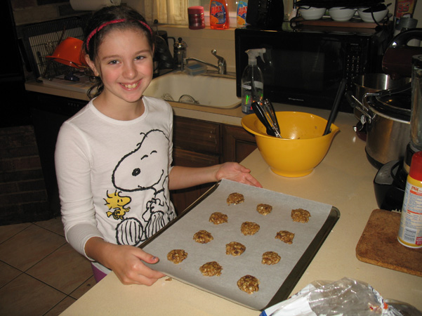Margot with cookies