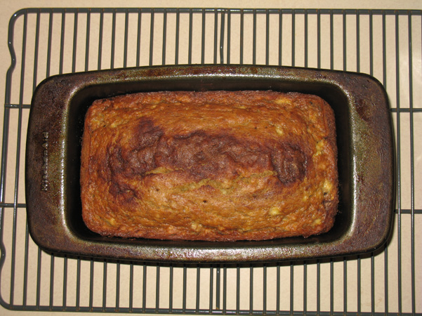 banana bread, baked