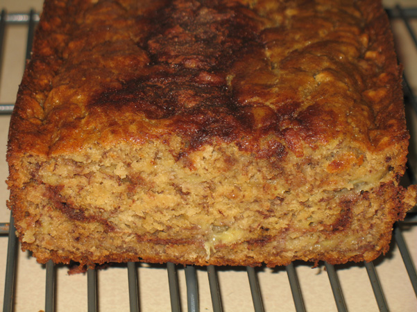 inside banana bread