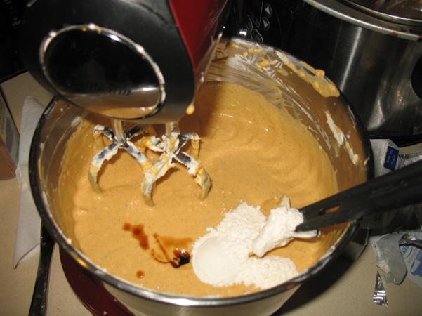 flour and vanilla