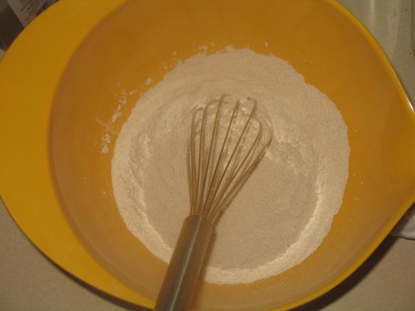 whisked dry ingredients