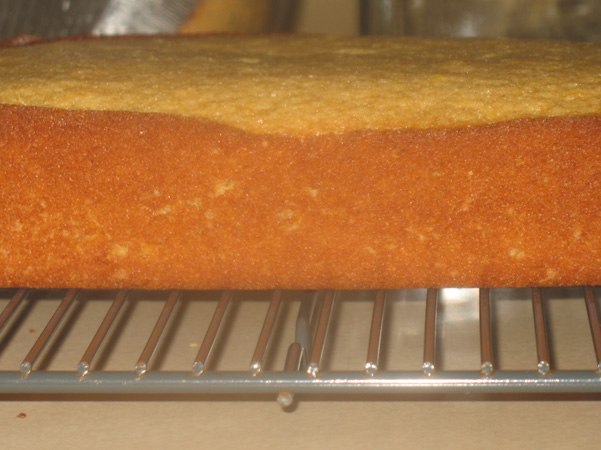 side view of lemon tea bread
