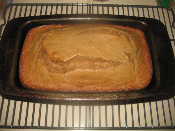 peanut butter and banana quick bread