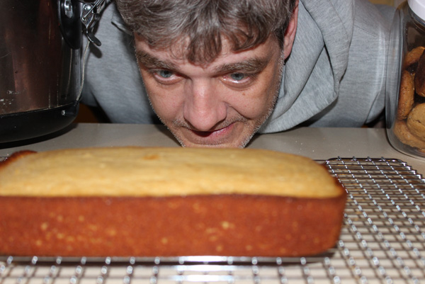 Dave with lemon cake