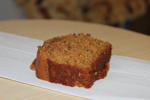 Carrot Loaf Slice On Napkin