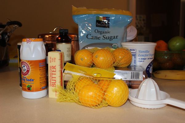 ingredients gathered on counter top