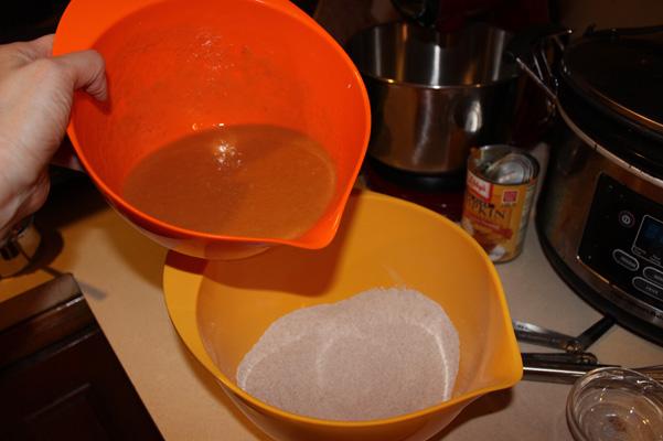 liquid ingredients ready