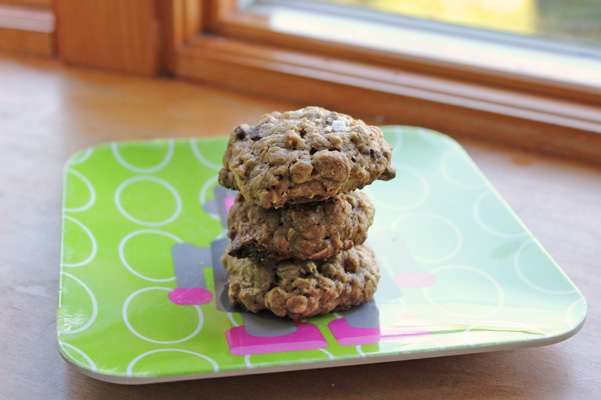 cookies stacked in window