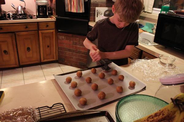 Nathaniel making imprints