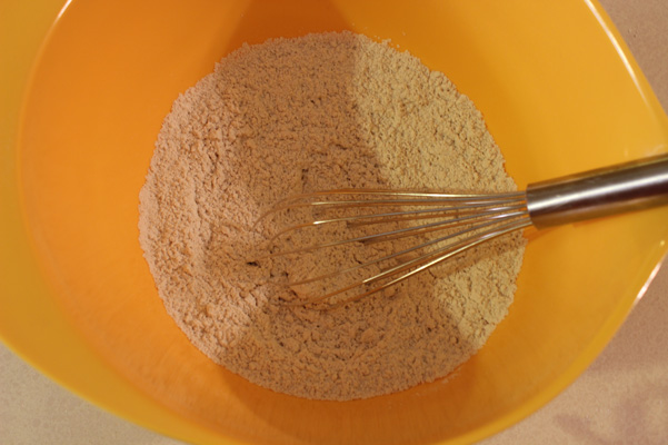 dry ingredients, whisked
