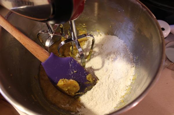 half the flour added