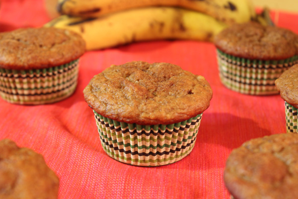 banana peanut butter honey muffins