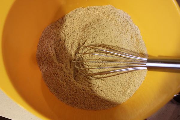 dry ingredients, whisked