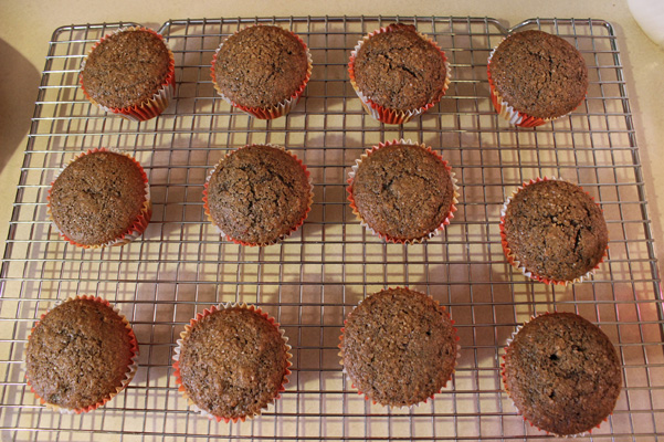 muffins cooling on rack