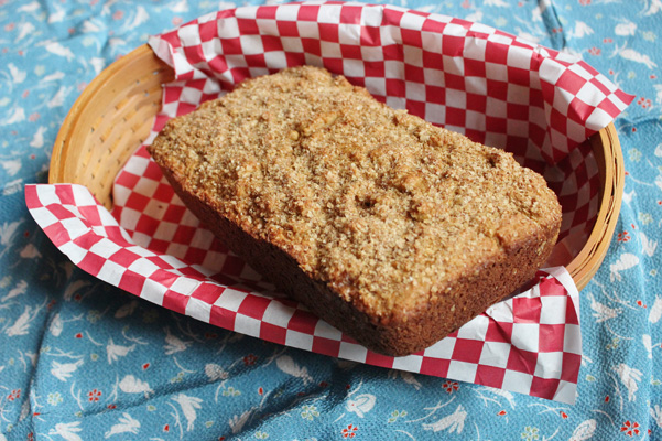 wheat germ bread in basket