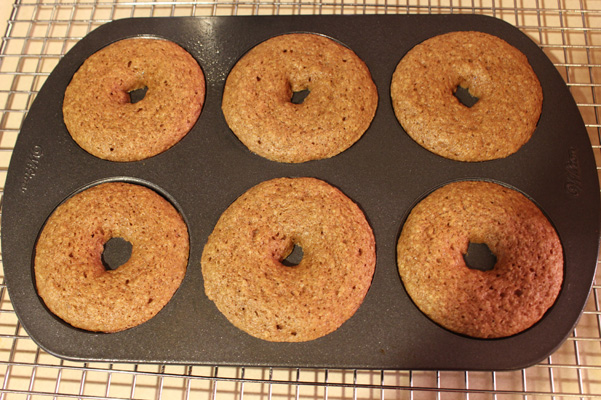 donuts, baked in pan