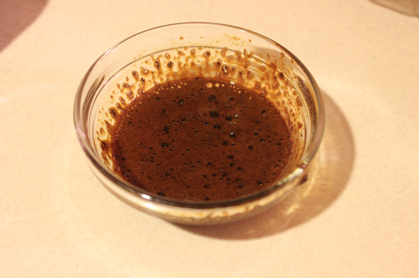 espresso powder in water