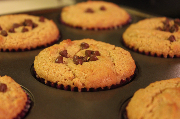 muffins baked in tin