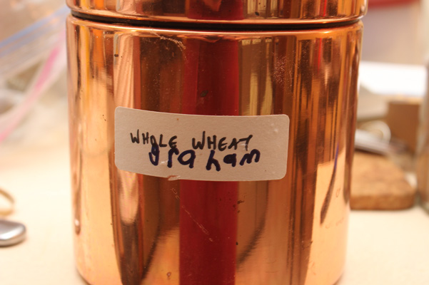 canister with label