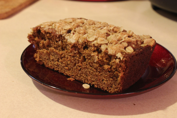 slice of carrot tea cake