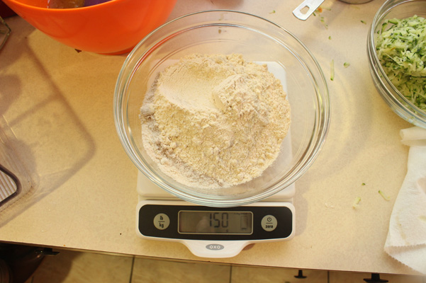 measured flour