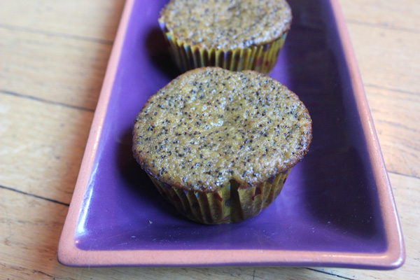 peach poppy seed muffins