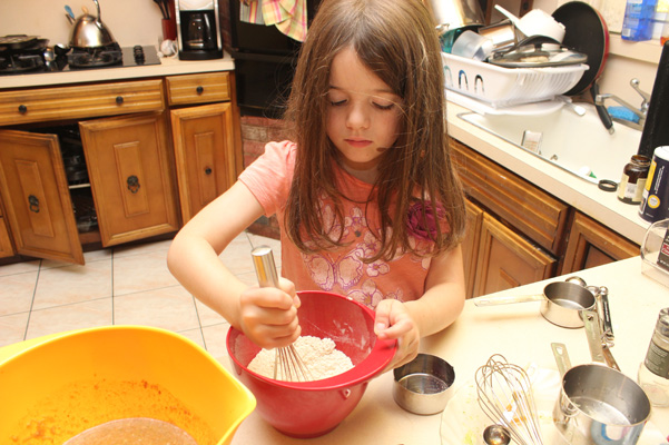 Juliet whisking