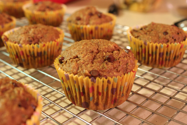 muffins on rack