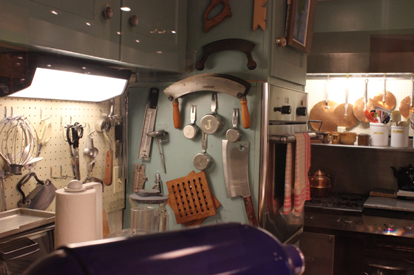 saws in Julia Child's kitchen in Washington DC