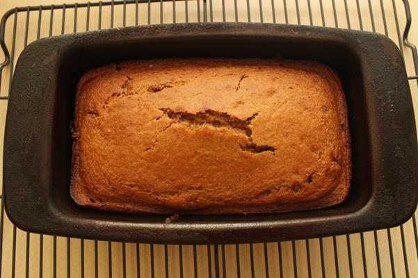 honey tea bread baked in pan