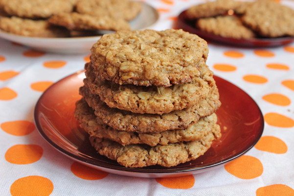 Thin and Crispy Oatmeal Cookies - Baking Adventures In A Messy Kitchen