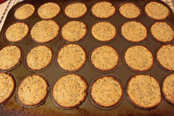flat muffins in tin