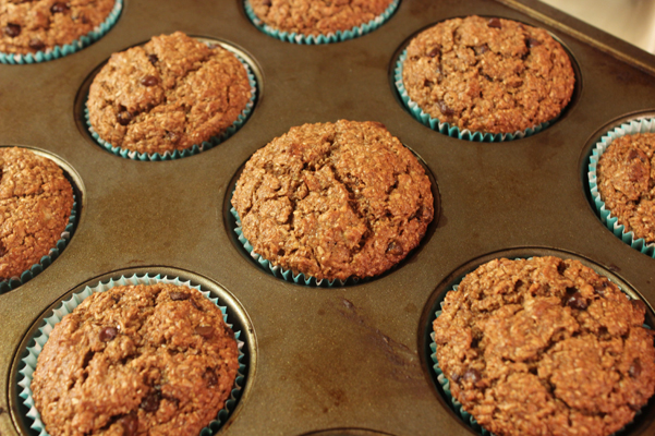 muffins, baked in tin