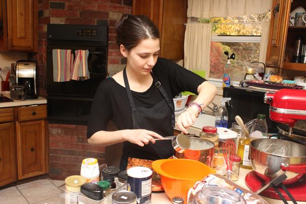 Antonia measuring flour