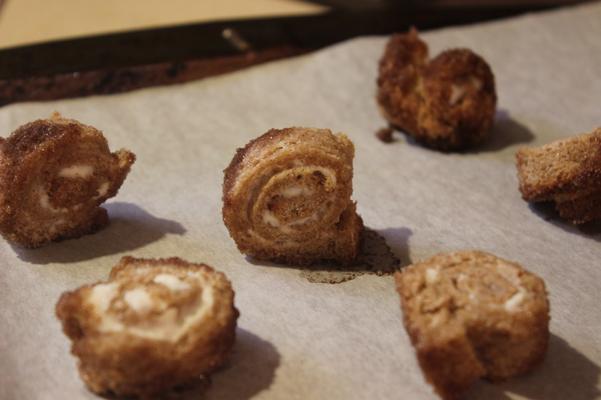 cinnamon snails, baked