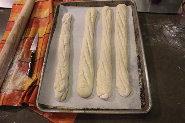 baguettes, risen