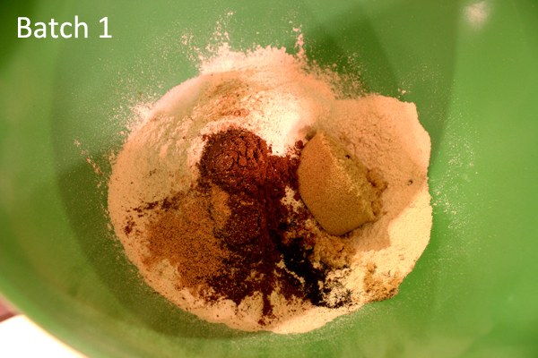 dry ingredients, batch 1