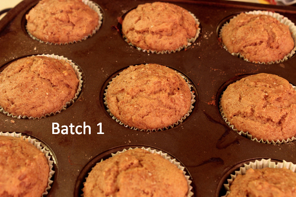 batch one, out of the oven