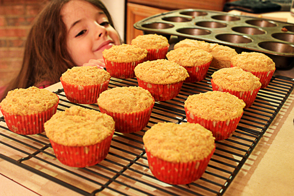 fluffy corn muffins with Juliet