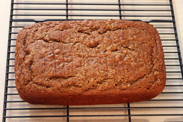 sweet potato quick bread on rack